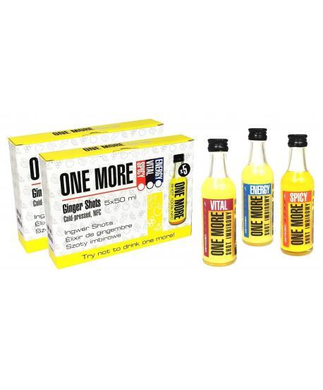 Podwójny zestaw shotów imbirowych ONE MORE 10x50 ml, smaki do wyboru