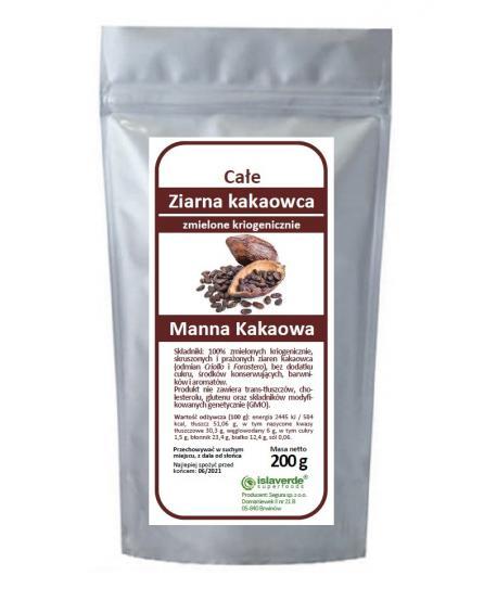 Ziarno kakaowca zmielone kriogenicznie 200 g