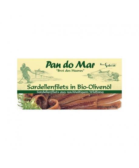 Anchois (sardele) w bio oliwie z oliwek 50 g Pan Do Mar